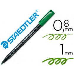 Rotulador lumocolor retroproyeccion punta de fibrapermanente 3175 verde pu