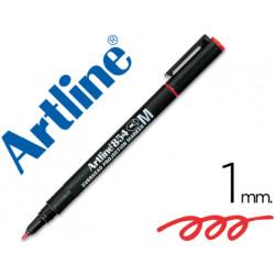 Rotulador artline retroproyeccion punta fibra permanente ek854 rojo punta