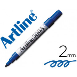 Rotulador artline pizarra ek500 azul punta redonda 2 mm recargable