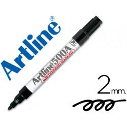 Rotulador artline pizarra ek500 negro punta redonda 2 mm recargable