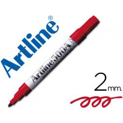Rotulador artline pizarra ek500 rojo punta redonda 2 mm recargable