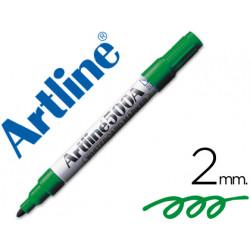 Rotulador artline pizarra ek500 verde punta redonda 2 mm recargable
