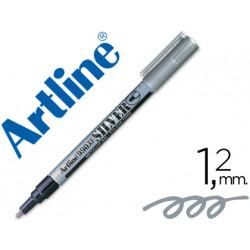 Rotulador artline marcador permanente tinta metalica ek990 plata punta re