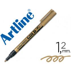 Rotulador artline marcador permanente punta metalica ek990 oro punta redo