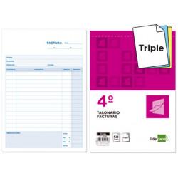 Talonario liderpapel facturas cuarto original y 2 copias t316 con iva