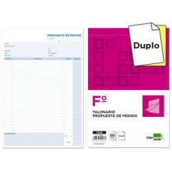 Talonario liderpapel pedidos folio original y copia t225