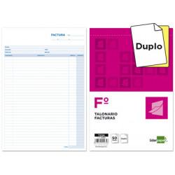 Talonario liderpapel facturas folio original y copia t224 sin iva
