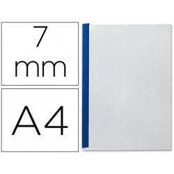 Tapa de encuadernacion channel flexible 35547 azul lomo a capacidad 36/70 h