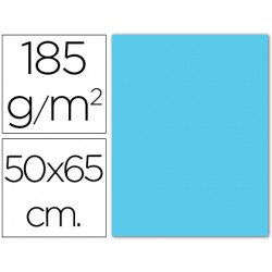 Cartulina guarro azul cielo 50x65 cm 185 gr
