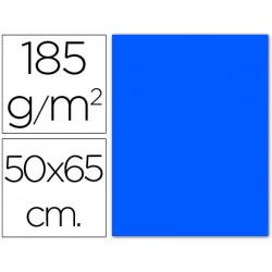 Cartulina guarro azul mar 50x65 cm 185 gr