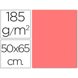Cartulina guarro rosa 50x65 cm 185 gr
