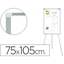 Pizarra blanca qconnect con tripode para conferencias 70x100 melamina