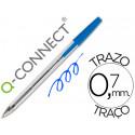 Boligrafo transparente qconnect azul medio kf26039
