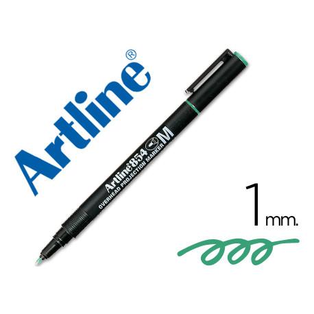 Rotulador artline retroproyeccion punta fibra permanente ek854 verde punt