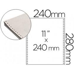 Papel continuo 240x11 blanco 3 hojas caja de 1000 juegos