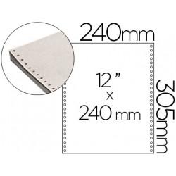 Papel continuo 240x12 blanco caja de 2500 hojas