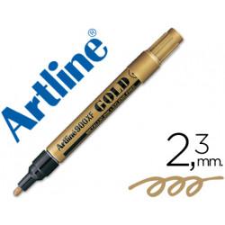 Rotulador artline marcador permanente tinta metalica ek900 oro punta redo