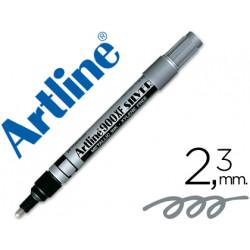 Rotulador artline marcador permanente tinta metalica ek900 plata punta re