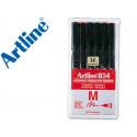Rotulador artline retroproyeccion punta fibra ek854 6w bolsa de 6 rotul