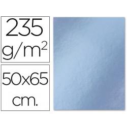 Cartulina liderpapel 50x65 cm 235g/m2 metalizada plata