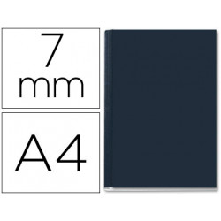 Tapa de encuadernacion channel rigida 35565 negra lomo a capacidad 36/70 ho