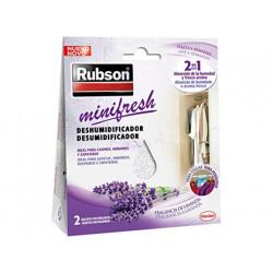 Deshumidificador rubson mini fresh lavanda accion 2 en 1 pack 2 bolsitas de