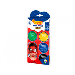 Crema maquillaje jovi face paint heroe caja de 6 botes colores surtidos 8 m