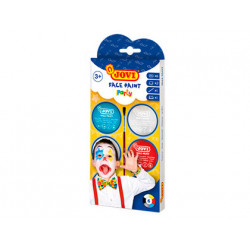 Crema maquillaje jovi face paint fiesta caja de 6 botes colores surtidos 8