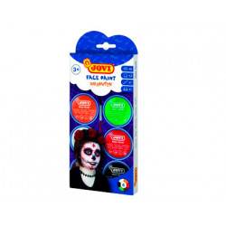 Crema maquillaje jovi face paint halloween caja de 6 botes colores surtidos