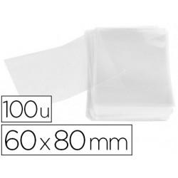 Bolsa polipropileno apli 60x80 mm transparente paquete de 100 unidades
