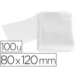 Bolsa polipropileno apli 80x120 mm transparente paquete de 100 unidades