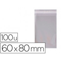 Bolsa polipropileno apli 60x80 mm transparente cierre adhesivo paquete de 1