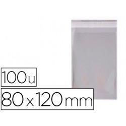 Bolsa polipropileno apli 80x120 mm transparente cierre adhesivo paquete de
