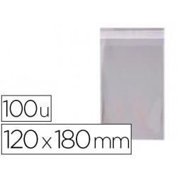 Bolsa polipropileno apli 120x180 mm transparente cierre adhesivo paquete de