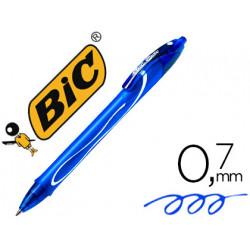 Boligrafo bic gelocity quick dry retractil tinta gel azul punta de 07 mm
