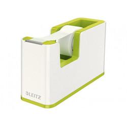Portarrollo sobremesa leitz wow plastico para cinta de 33 m verde
