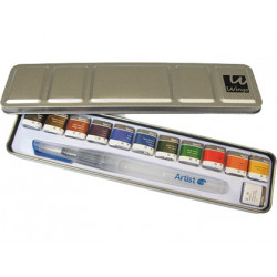 Acuarela artist start caja metal 12 colores surtidos + pincel rellenable