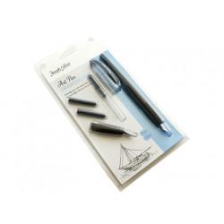 Set caligrafia william mitchell 2 plumines + 2 cartuchos + accesorios