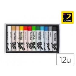 Lapices pastel oleo dalbe caja 12 colores surtidos