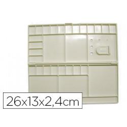 Paleta caja plastico artist rectangular 26x13x24 cm