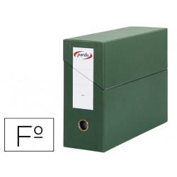 Caja transferencia pardo folio forrado extra doble lomo 80 mm estuche inter