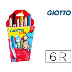 Rotulador giotto super bebe caja de 6 colores surtidos
