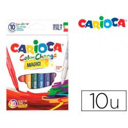 Rotulador carioca cambia color tinta magica caja de 10 unidades colores sur