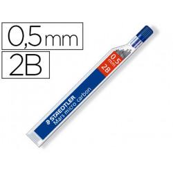 Minas staedtler mars micro grafito 05 mm 2b tubo con 12 unidades