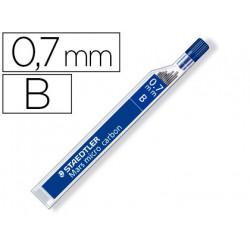 Minas staedtler mars micro grafito 07 mm b tubo con 12 unidades