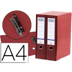 Modulo elba 2 archivadores de palanca din a4 con rado 2 anillas rojo lomo d