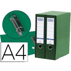 Modulo elba 2 archivadores de palanca din a4 con rado 2 anillas verde lomo
