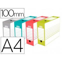 Caja archivo definitivo elba din a4 lomo 100 mm colores surtidos