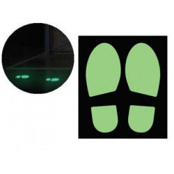 Pictograma cep huella de paso fotoluminescente pack de 2 unidades
