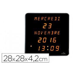 Reloj orium digital led amarillo fondo negro 28x28x42 cm